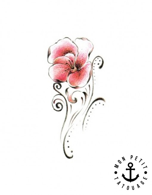 petit tatouage fleur tribal mon petit tatouage temporaire. Black Bedroom Furniture Sets. Home Design Ideas