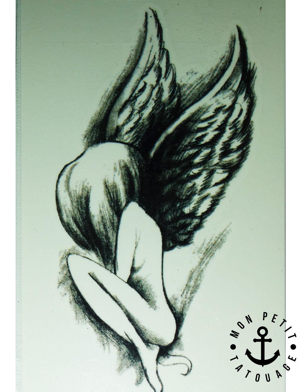 tatouage ange gardien mon petit tatouage temporaire. Black Bedroom Furniture Sets. Home Design Ideas