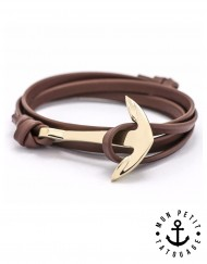 BRACELET-ANCRE-MARINE-OR-MARRON
