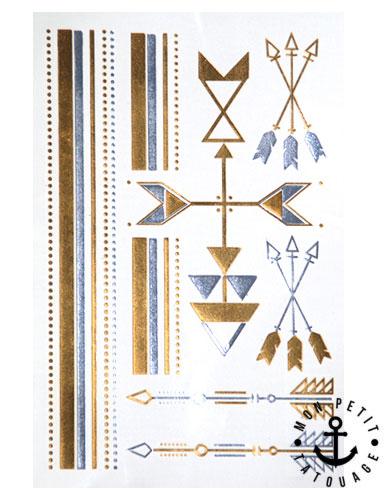 12 tatouages or fleches et bracelets grande plaquette mon petit tatouage temporaire. Black Bedroom Furniture Sets. Home Design Ideas