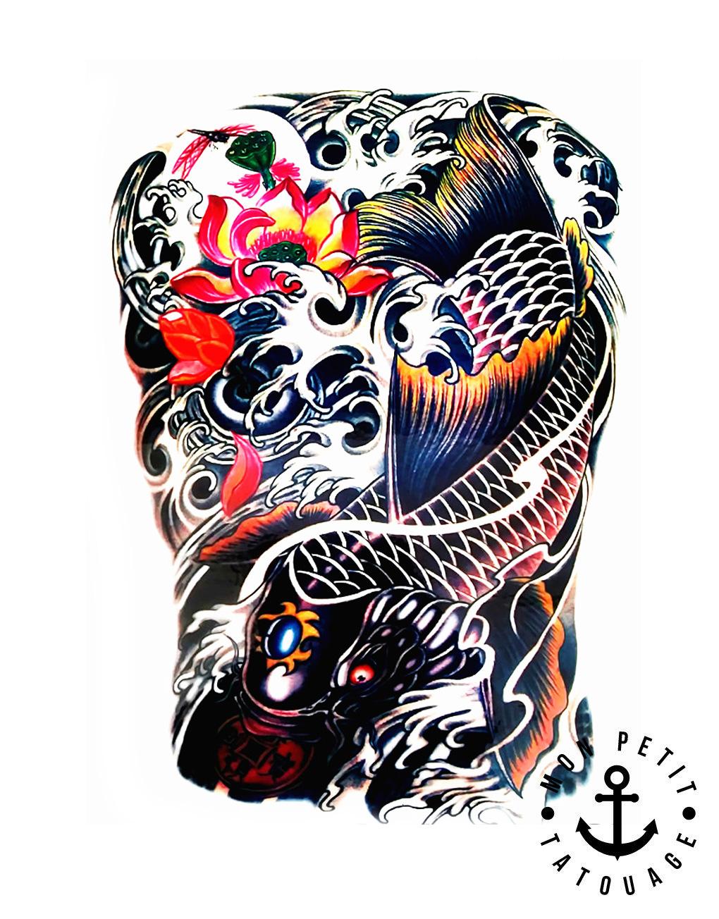 Dessin tatouage carpe koi galerie tatouage - Dessin carpe koi ...
