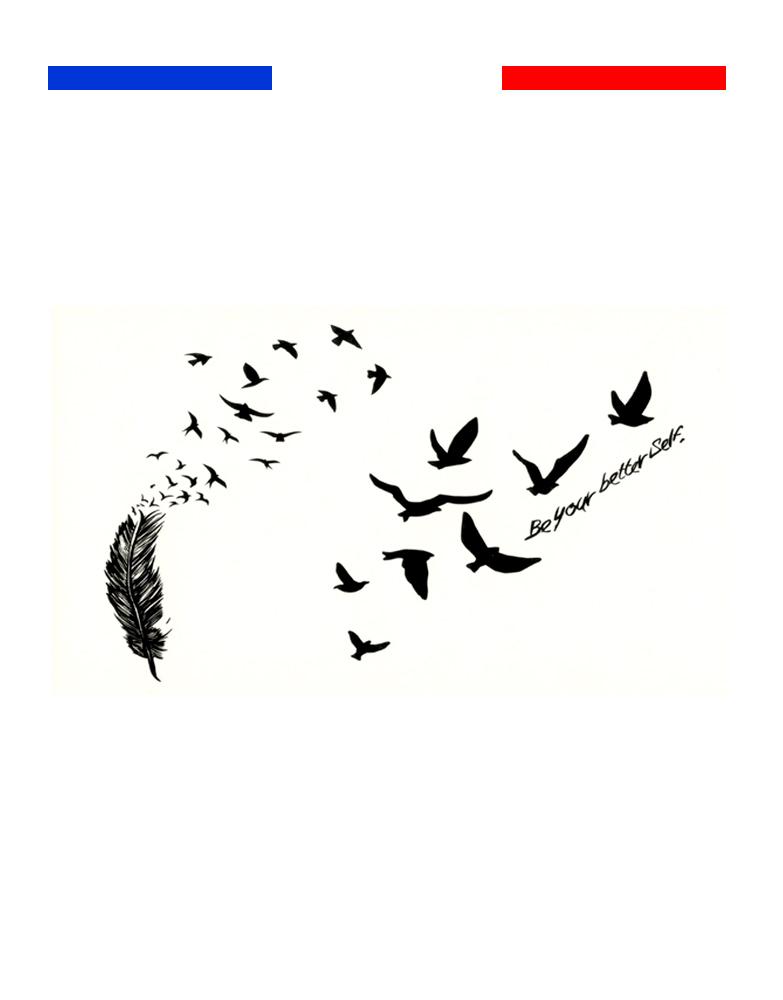 petits tatouages oiseaux plume mon petit tatouage temporaire. Black Bedroom Furniture Sets. Home Design Ideas