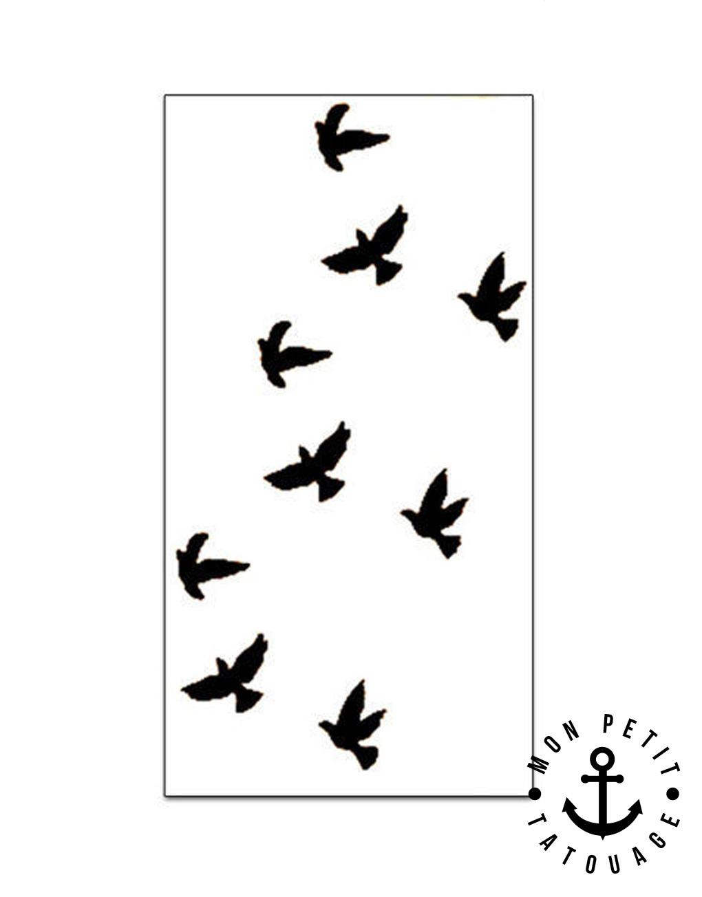 petits tatouages oiseaux mon petit tatouage temporaire. Black Bedroom Furniture Sets. Home Design Ideas