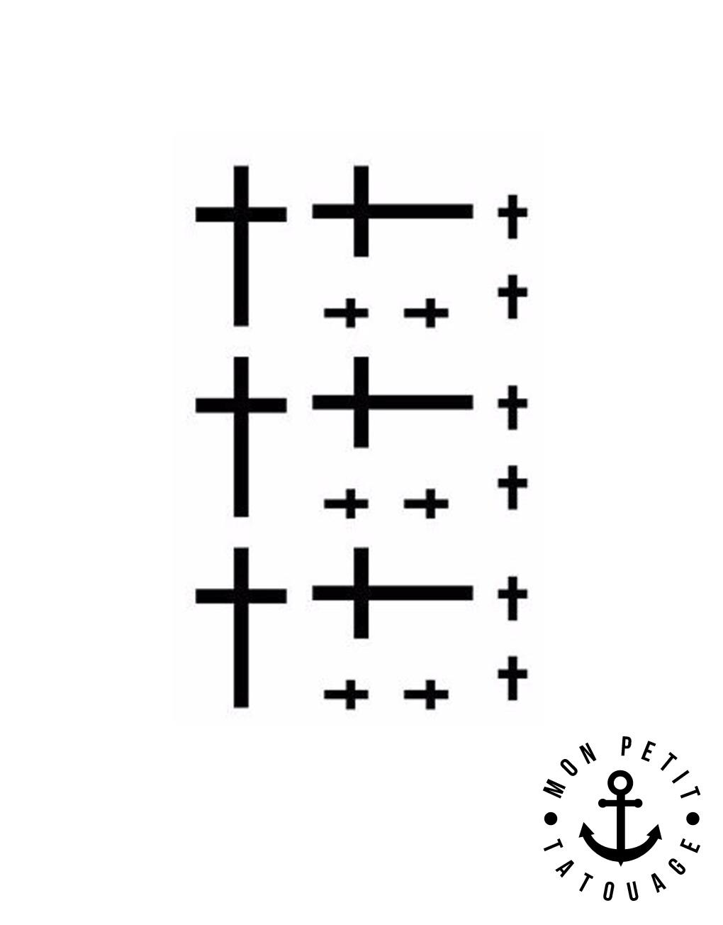 petit tatouage croix ph m re mon petit tatouage temporaire. Black Bedroom Furniture Sets. Home Design Ideas