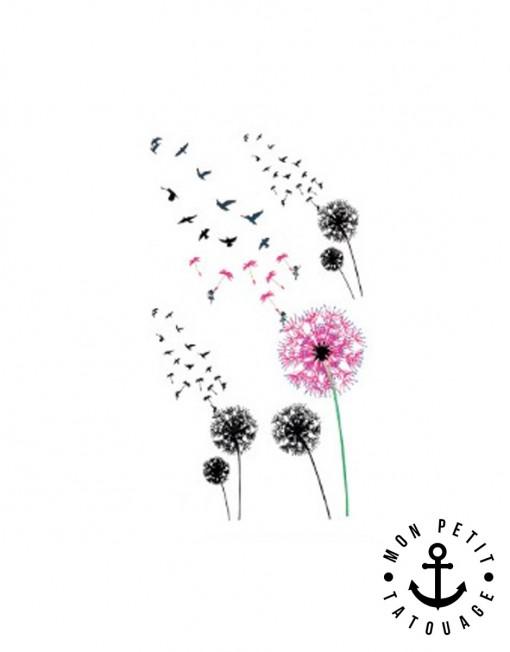 petits tatouages fleurs vol d 39 oiseaux mon petit tatouage temporaire. Black Bedroom Furniture Sets. Home Design Ideas