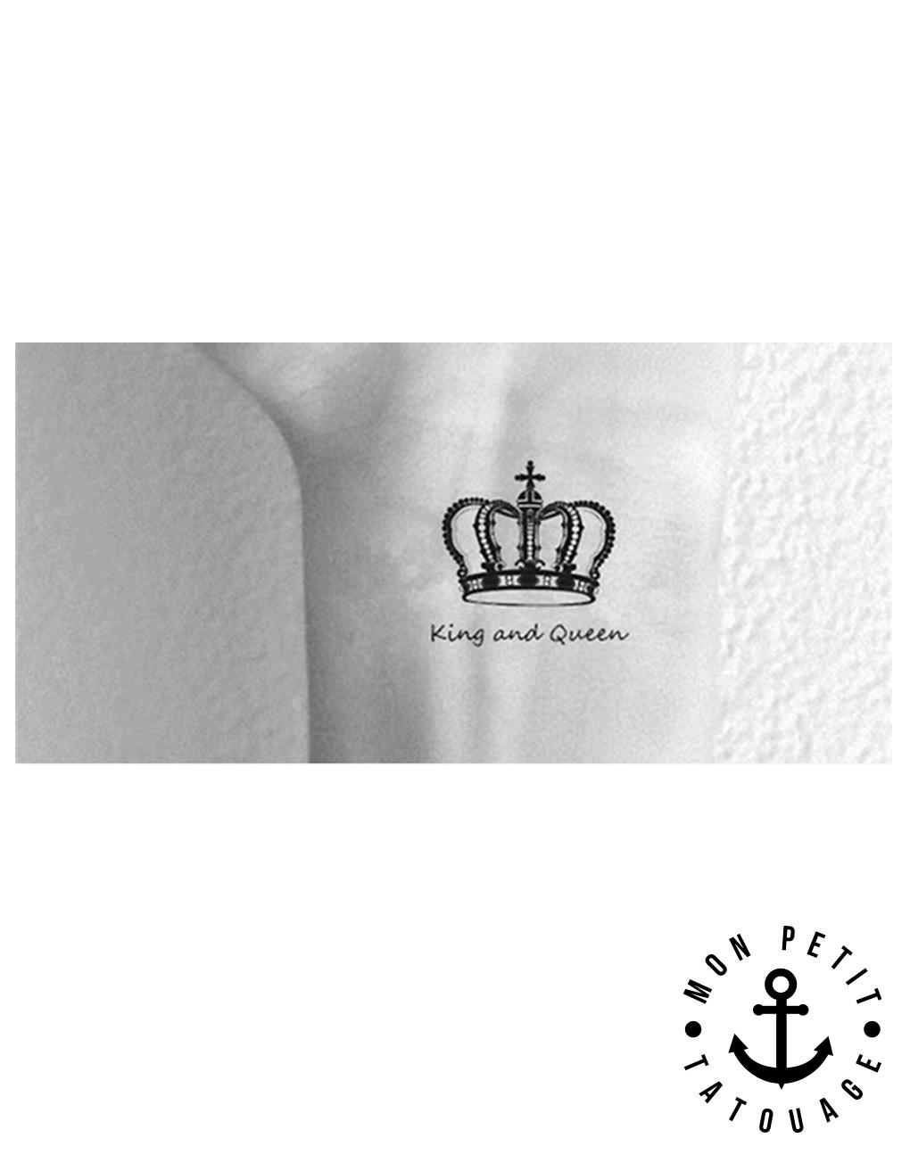 tatouage couronne roi et reine mon petit tatouage temporaire. Black Bedroom Furniture Sets. Home Design Ideas