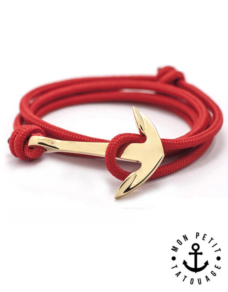 acheter populaire e7c3e 54a27 Bracelet Bleu Ancre marine Or Premium - Réglable | Mon Petit Tatouage  Temporaire