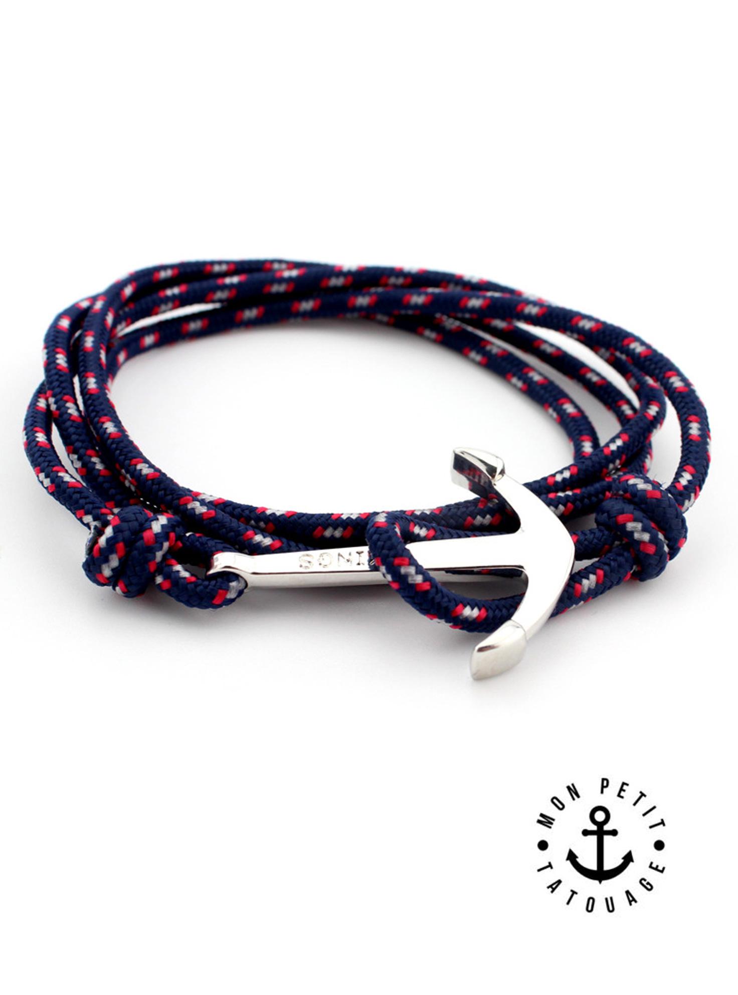 bracelet ancre marine argent vikings r glable mon. Black Bedroom Furniture Sets. Home Design Ideas