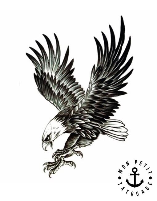 tatouage aigle royal en vol mon petit tatouage temporaire. Black Bedroom Furniture Sets. Home Design Ideas