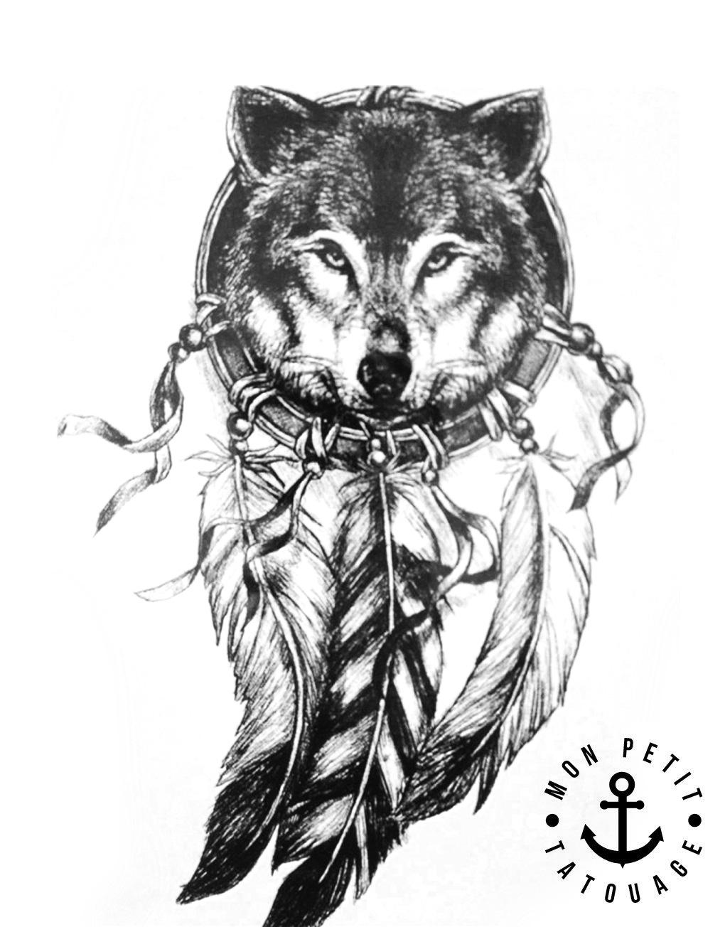 Souvent Tatouage Loup et Attrape-Rêves | Mon Petit Tatouage Temporaire YC51