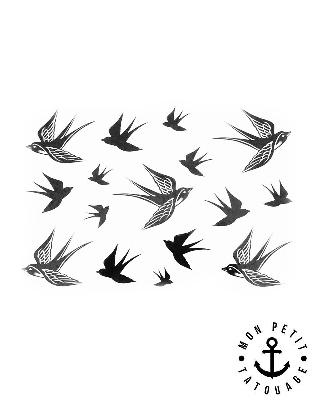 tatouage hirondelles oiseaux mon petit tatouage temporaire. Black Bedroom Furniture Sets. Home Design Ideas
