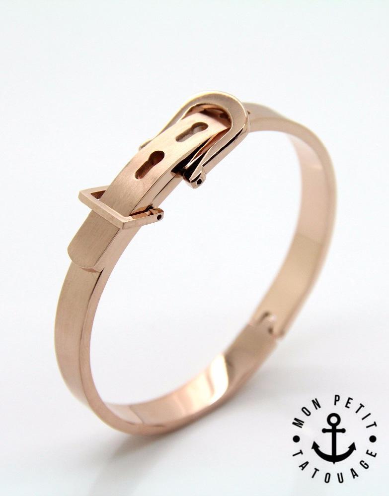 bracelet jonc boucle ceinture love or jaune or rose argent femme homme mon petit tatouage. Black Bedroom Furniture Sets. Home Design Ideas