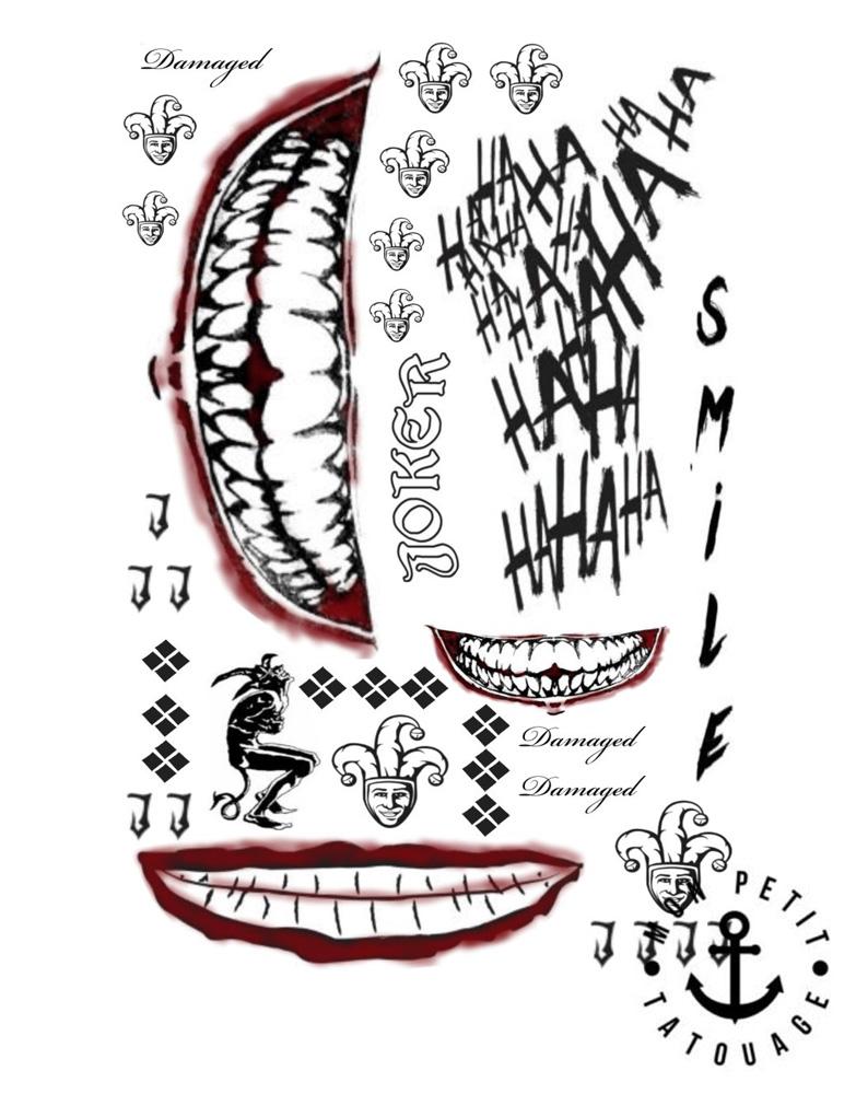 Tatouage Ephemere Joker Tatouage
