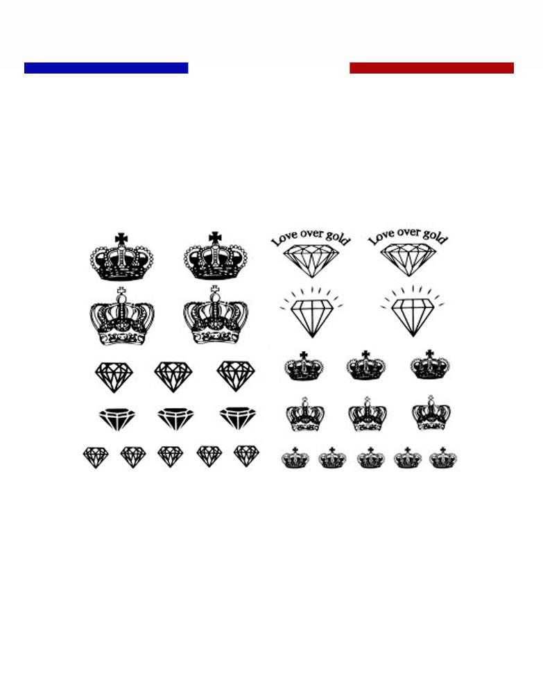 tatouage couronne roi et reine | mon petit tatouage temporaire