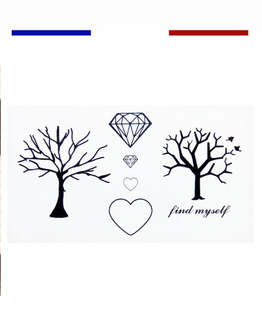 Tatouage arbre temporaire mon petit tatouage temporaire - Signification tatouage arbre ...