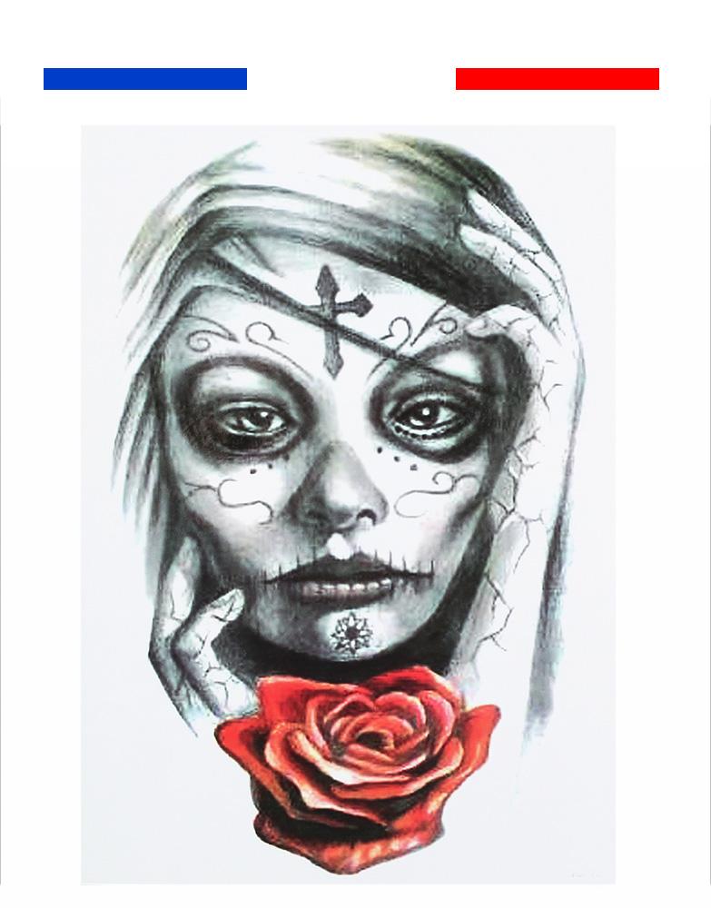 Tatouage Temporaire Femme Rose Et Croix Mon Petit Tatouage Temporaire