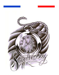 Tatouage Horloge Citation Temporaire
