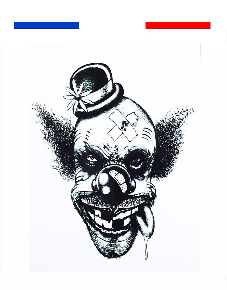 Tatouage temporaire Clown méchant
