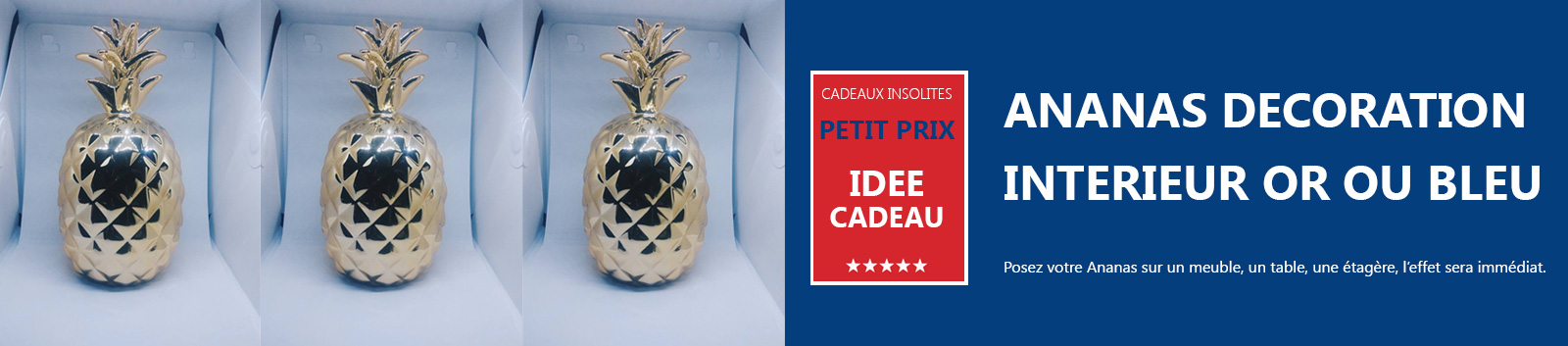 Ananas d coration int rieur statue meuble d co home for Petit ananas deco