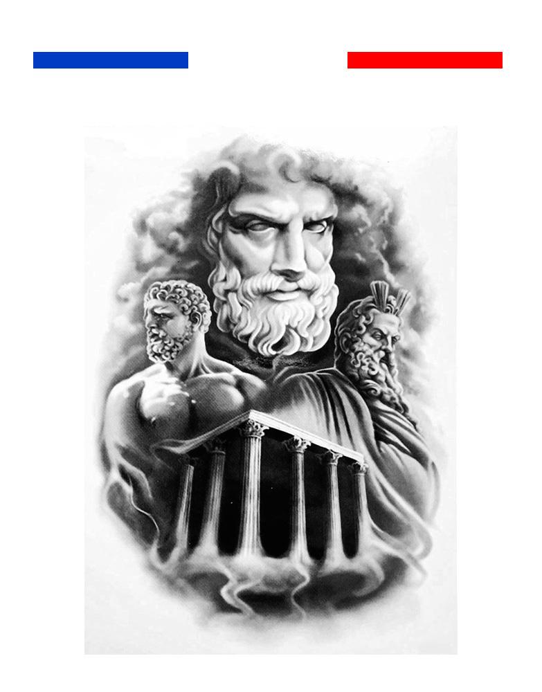 Tatouage Temporaire Zeus Rome Grece Mythologie Mon Petit Tatouage