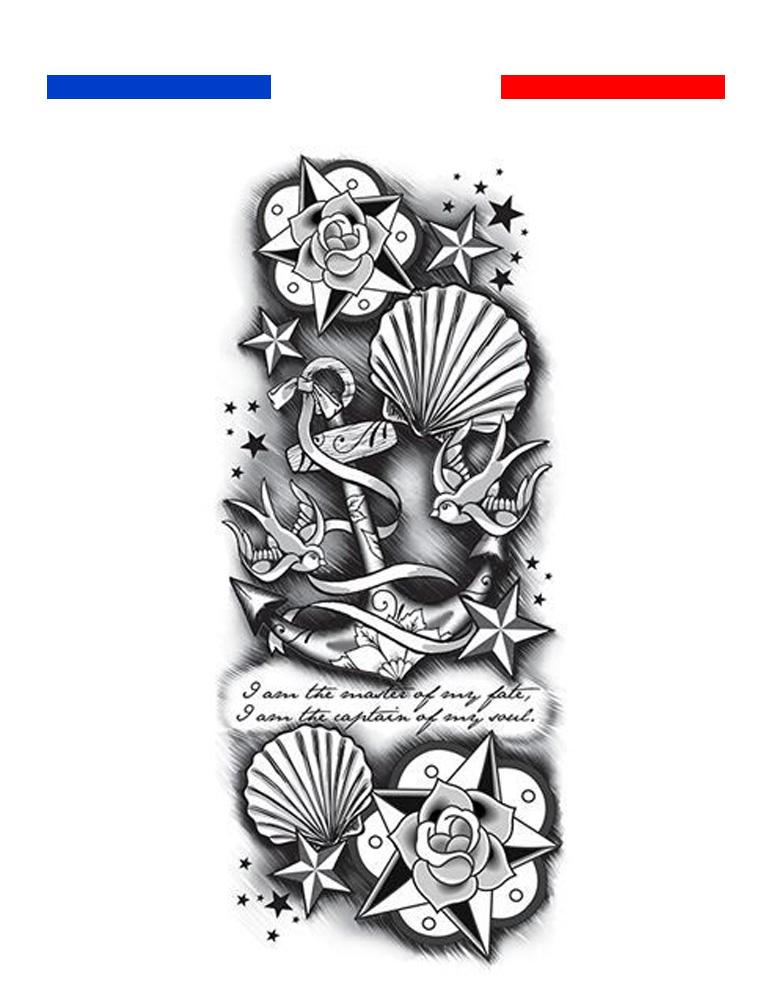 tatouage manchette ancre et mer mon petit tatouage temporaire. Black Bedroom Furniture Sets. Home Design Ideas