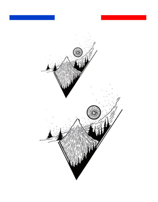 Tatouage Paysage Montagne