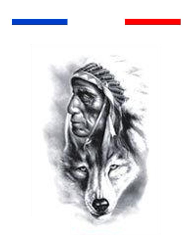 Tatouage Indien Et Loup Realiste Mon Petit Tatouage Temporaire