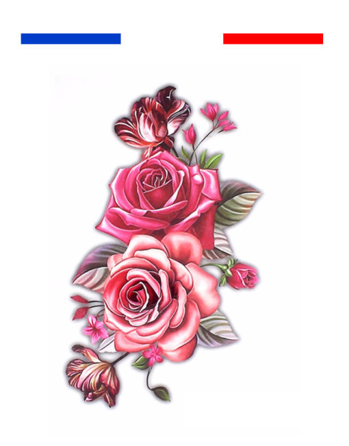tatouage rose femme bras