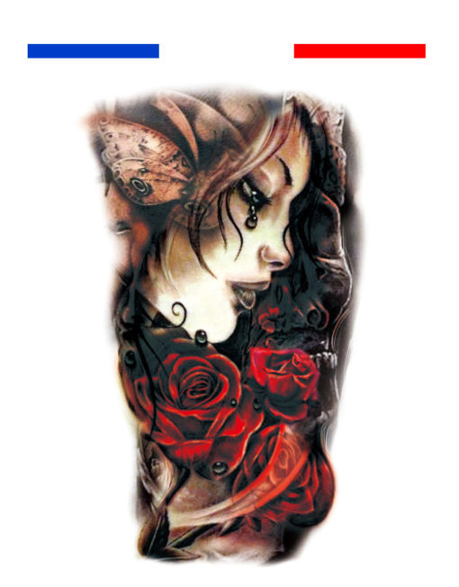 tatouage r aliste couleur portrait roses mon petit. Black Bedroom Furniture Sets. Home Design Ideas