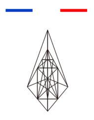 tatouage geometrique triangle minimaliste temporaire