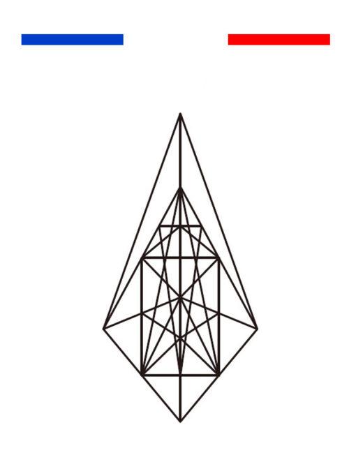 tatouage g om trique triangle temporaire mon petit. Black Bedroom Furniture Sets. Home Design Ideas