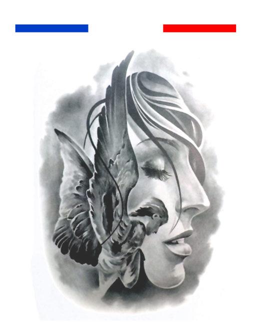Tatouage Ange prière temporaire