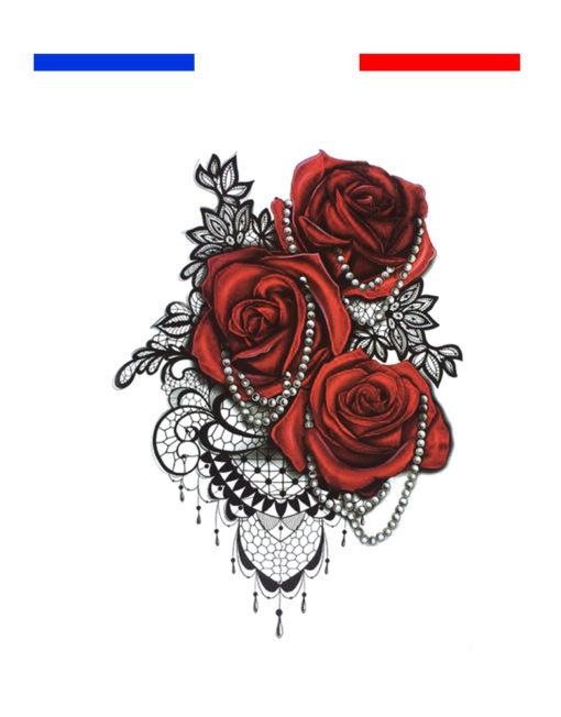 Tatouage dentelle paule femme mon petit tatouage temporaire - Tatouage epaule femme rose ...
