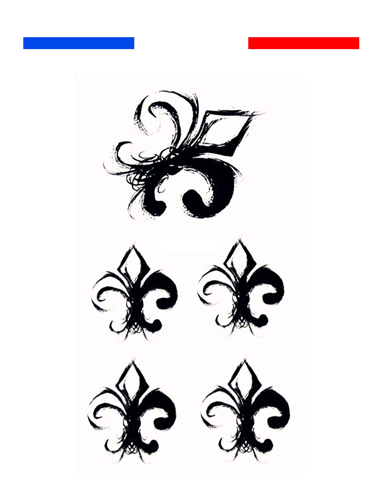tatouage fleur de lys poignet mon petit tatouage temporaire. Black Bedroom Furniture Sets. Home Design Ideas