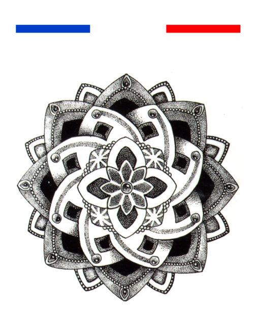 tatouage fleur de lotus mandala poignet mon petit. Black Bedroom Furniture Sets. Home Design Ideas