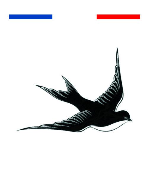 tatouage hirondelle old school poignet mon petit tatouage temporaire. Black Bedroom Furniture Sets. Home Design Ideas