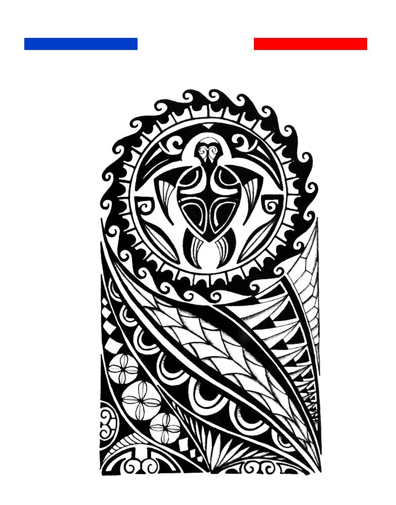 Tatouage Polynésien Maori Bras épaule Noir