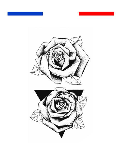 Tatouage Rose Dotwork Mon Petit Tatouage Temporaire