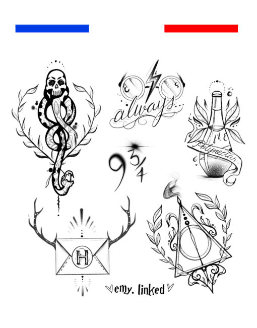 Tatouage Mangemort Harry Potter Style