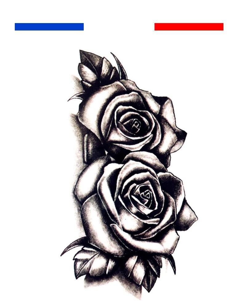 Tatouage Double Rose Mon Petit Tatouage Temporaire