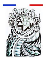 tatouage maori tribal bras