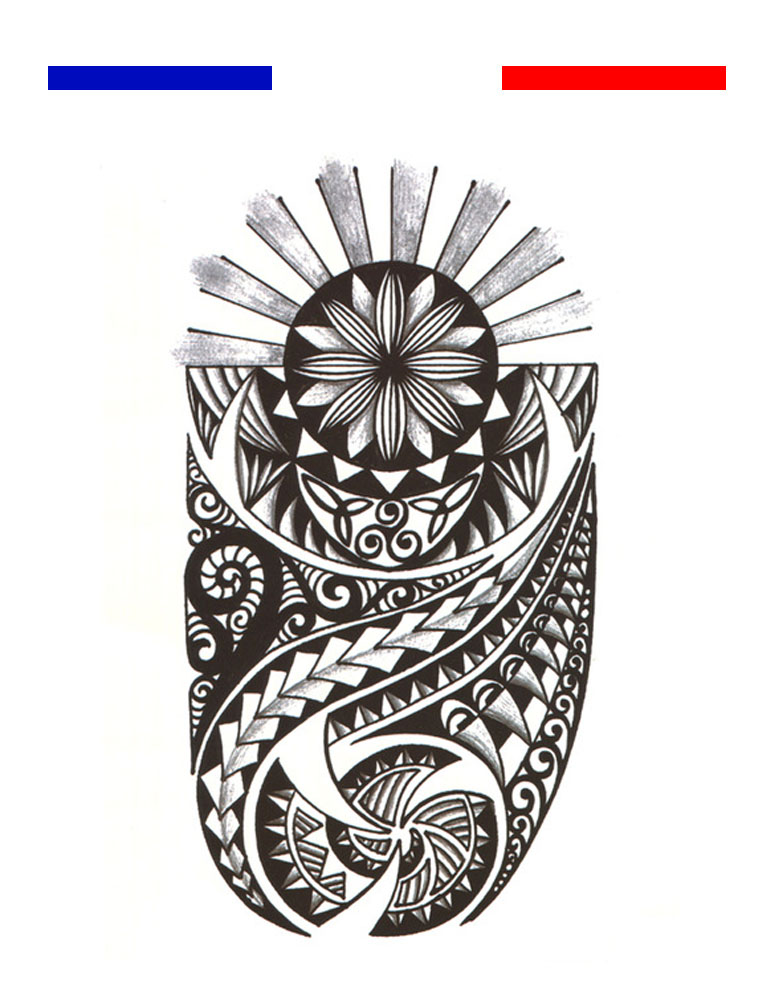 Tatouage Maori Bras Mollet Noir Mon Petit Tatouage Temporaire
