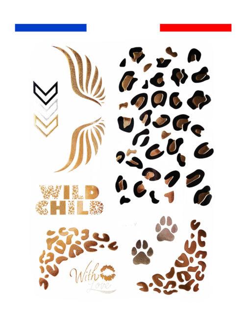 tatouage taches leopard temporaire femme