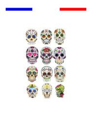 tatouage tete de mort mexicaine
