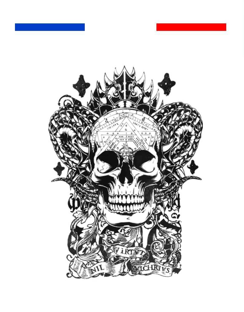 tatouage t te de mort totem mon petit tatouage temporaire. Black Bedroom Furniture Sets. Home Design Ideas