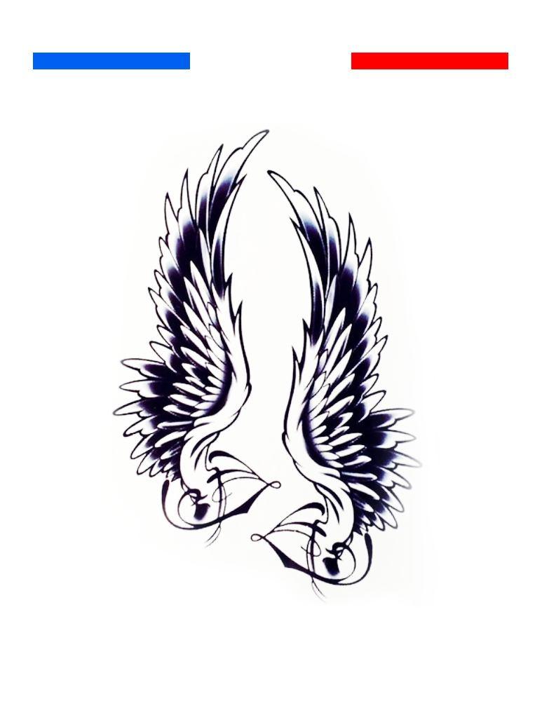 Aile Ange Tatouage tatouage aile d'ange dos | mon petit tatouage temporaire