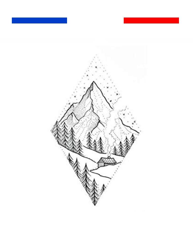 Tatouage Paysage Montagne Ski Dotwork temporaire