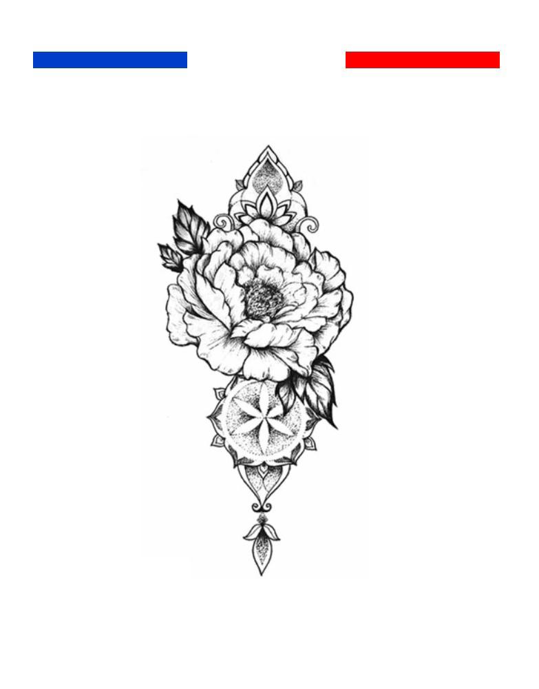 Tatouage Composition Fleur Poignet Femme Mon Petit Tatouage Temporaire
