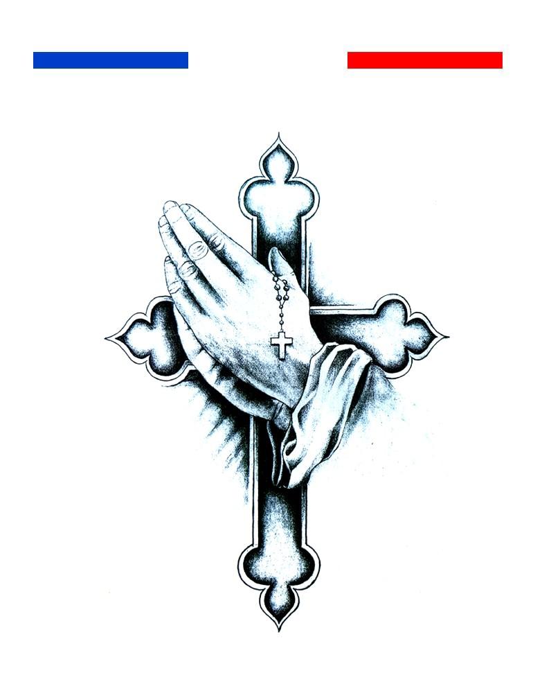 Tatouage Croix Prière
